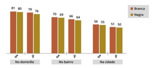 estatística negros brancos